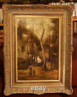 Ecole du XIXème siècle huile sur toile