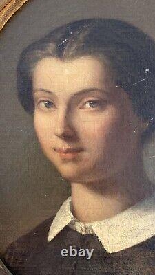 Ecole française vers 1860. Portrait de Rose-Félicie-Berthe Froment-Meurice