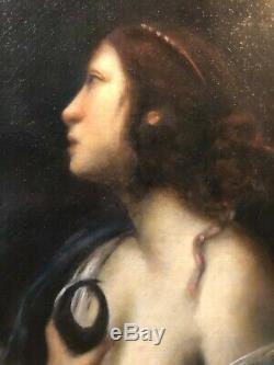 Ecole italienne XIXè Femme en buste Huile sur toile