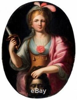 École italienne des XVII-XVIIIème siècle. Judith et Holopherne. HST