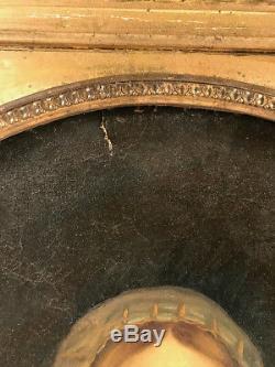 Ecole italienne vers 1900. Huile sur toile, Vierge à lenfant