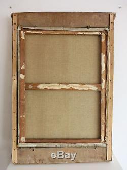 Edouard CARIAT (1874-1962). Grande huile sur toile. DIEPPE. Beau CADRE TABERNACLE