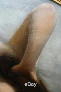 Eugène WISSEL, femme nue, tableau, peinture, érotique, érotica, jeune femme