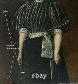 Euphemie Muraton 1840-1914. Monumental & Magnifique Portrait Ou Autoportrait