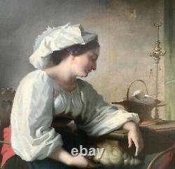 Exceptionnel Tableau Hst Femme Et Enfant Peinture 1850 Bouguereau Qualité Musée