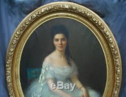 F Birotheau Très Grand Portrait 147 X 117 HST 1875