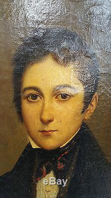 F REGNART Huile sur Toile 1888 JM Portrait de Garcon Peinture Peinture Art KN