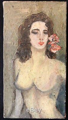 Femme nue fauve fauvisme début XXe signée Van Dongen