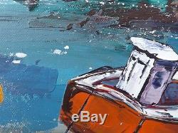 Finistère JP DOUCHEZ Peinture huile sur toile au couteau Bretagne Morbihan