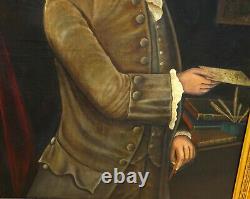 GRAND Portrait d'Homme Epoque XVIIIème Huile sur Toile Louis XV Ecole Française