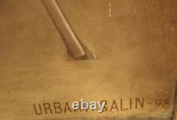 GRAND TABLEAU, HUILE sur TOILE, PORTRAIT MILITAIRE SignéURBAIN. GALIN-98