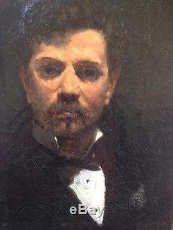 Georges JEANNIN Autoportrait Huile sur toile du peintre des fleurs ou Portrait