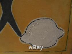 Gino Gregori 1972 100x50 cm / mer poisson soleil été / Cubisme Sea Sun Summer