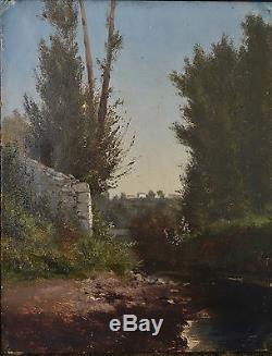 Godchaux Emile (1860/1938) Huile sur Toile Bord de Rivière en Forêt Fin XIXè