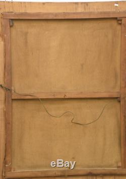 Grand Portrait à l'huile Van Beylen 119 x 88 cm Académie d'homme
