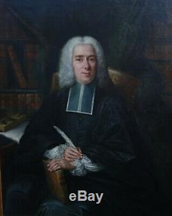 Grand Portrait de Magistrat avocat Ecole française du XVIIIème Huile sur toile