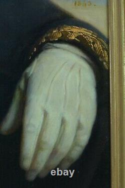 Grand Tableau Ancien Portrait D'homme Costume Paysage Thomas DEGEORGE elv. David