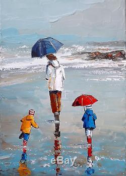 Grand Format Jp Douchez Peinture Huile Sur Toile Au Couteau Bretagne ...