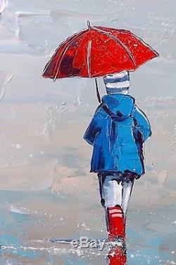 Grand format JP DOUCHEZ Peinture huile sur toile au couteau Bretagne Morbihan