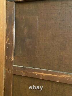 Grand tableau fin XIXe signée Delafosse vue de Venise aux personnages masqués
