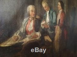 Grande Huile Sur Toile Française Epoque Louis XV, XVIII°