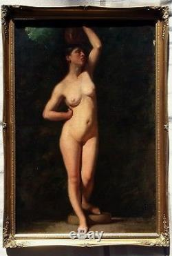 Grande Odalisque, circa 1860. Huile sur toile, orientalisme, cadre XXème