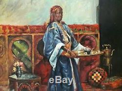 Grande huile sur toile orientaliste