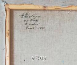 Grande huile /toile -NU ASSIS- signé SHEVCHUK Alexander
