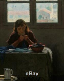 Gustave LINO tableau orientaliste intérieur ALGER paysage Algérie orientalisme
