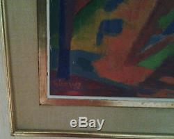 Gustave SINGIER (1909-1984) HST Huile sur toile Avant-Garde grosse cote muséal