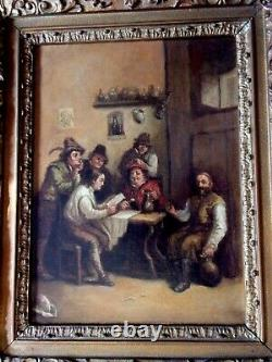 HST Scène de taverne dans le goût hollandais XVIIe Ecole du XIXe