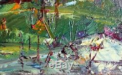HST Tableau post impressionniste J-Paul Ulysse Fin septembre à Pontoise