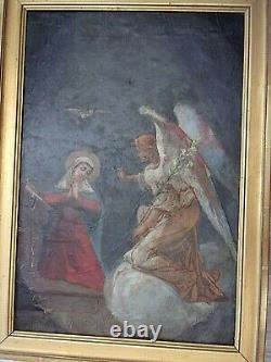 HST Vierge et Ange GABRIEL Ecole Française XIXe