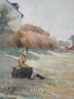 HUILE SUR TOILE, ENCADREE, ECOLE FRANCAISE fin XIXè, circa 1900