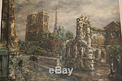 Huile Sur Toile Raymond Besse Notre Dame