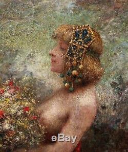 Henri DANGER, paysage, symboliste, femme nue, tableau, peinture, érotique
