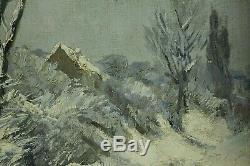 Henri Van Seben, 1827, XIXe Siècle, Paysage de neige, Cotes jusque 3.000 euros