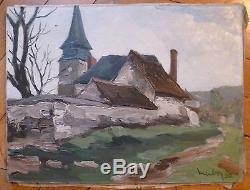 Herbo Fernand huile sur toile signée Montmartre Calvados Peintre de la marine
