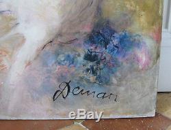 Hst huile sur toile de Albert Deman bouquet peinture tableau