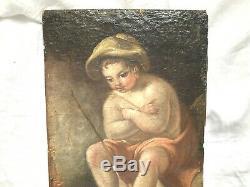 Huile Sur Toile Maroufle Sur Panneau 18 Eme Siecle Enfant Entourage De Jeaurat