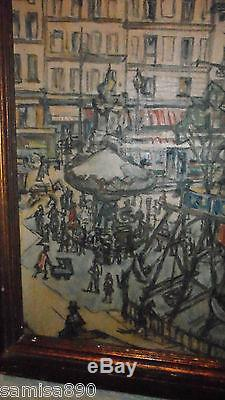 Huile Sur Toile Signee Germain David Nillet 1861/1932 Paris Faubourg St Antoine