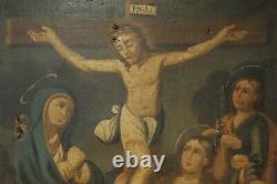 Huile Sur Toile Xviii° Siecle Scene Religieuse Jesus Christ