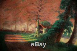 Huile Sur Toile-paysage-ariege-signature-impressionniste-printemps-debut XX Eme