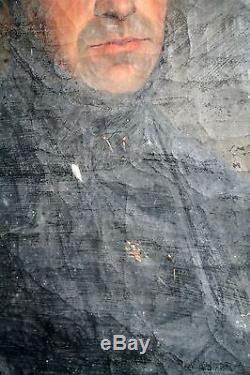 Huile Sur Toile-portrait-restauration-classique-gentilhomme-aristocrate