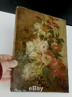 Huile sur Toile Bouquet de Fleurs, du XIXe, Bel état d'origine