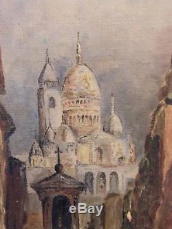 Huile sur Toile Paris Montmartre Signée Mona Liori années 50