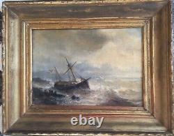 Huile sur toile. CLAYS Jean-Paul. (1819-1900). Marine. Scène de naufrage
