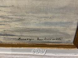 Huile sur toile Georges lhermitte