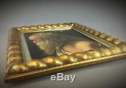 Huile sur toile Léonard de Vinci signé WEBER HENRIK (1818-1866) XIXEME
