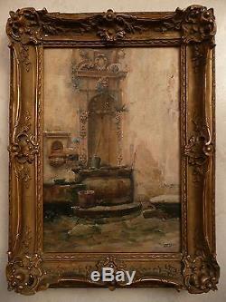 Huile sur toile, Orientaliste, Marius RENAUD(1860-1935) Tableau ancien